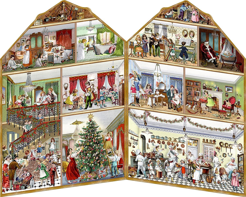 Coppenrath calendario de adviento 'Navidad en la mansió n grande plegable tradicional