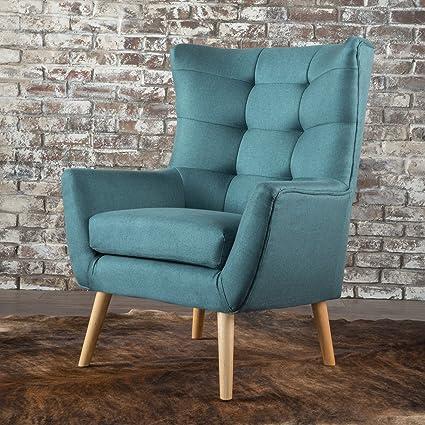 Temescal Living Room ~ Mid Century Modern Arm(Club) Chair (Dark Teal)