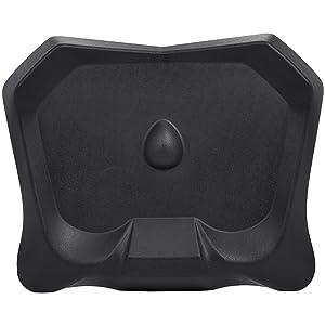 AmazonBasics Non-Flat Standing Desk Anti-Fatigue Mat, Black, 4-Pack