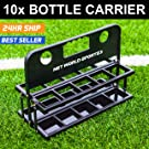 Foldable Drinks Bottle Carrier - Perfect for Sports Teams - 10 Sports Water Bottle Capacity