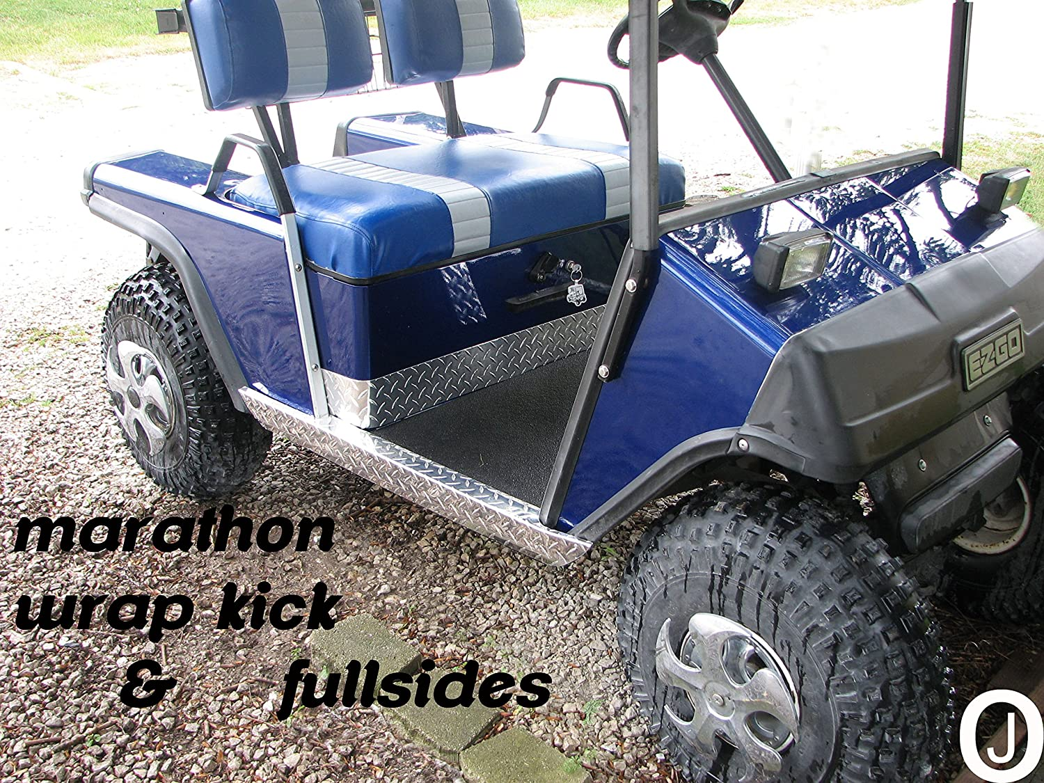 Ezgo Marathon Golf Cart Diamond Plate Full Side Panels 1991 Wiring Diagram And Wrap Kick Set Sports Outdoors