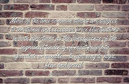 Amazon com: Benjamin Graham - Famous Quotes Laminated Poster