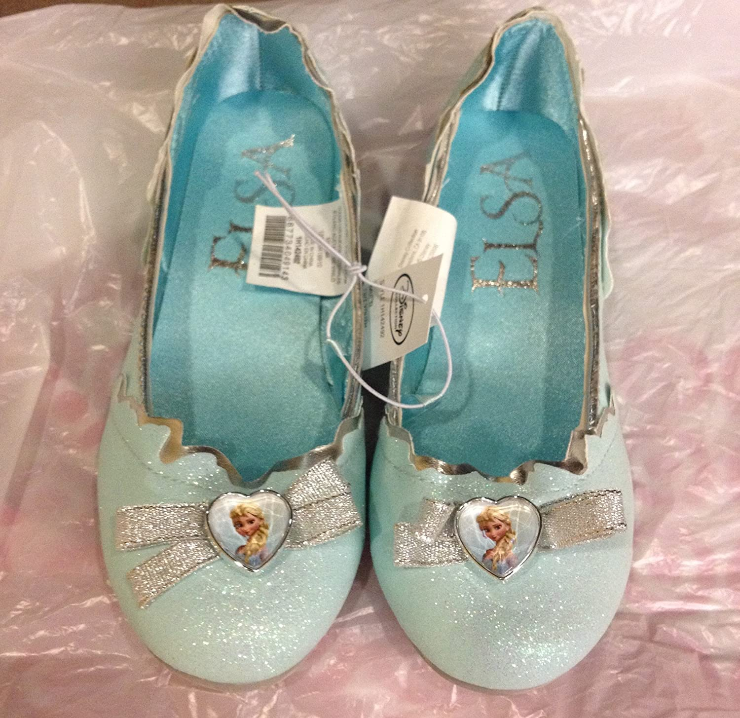 Disney Frozen Elsa Slippers ~ Youth Shoe Size 2/3 ~ Dress up or Pretend Play 00-IJDNXEUD-FE