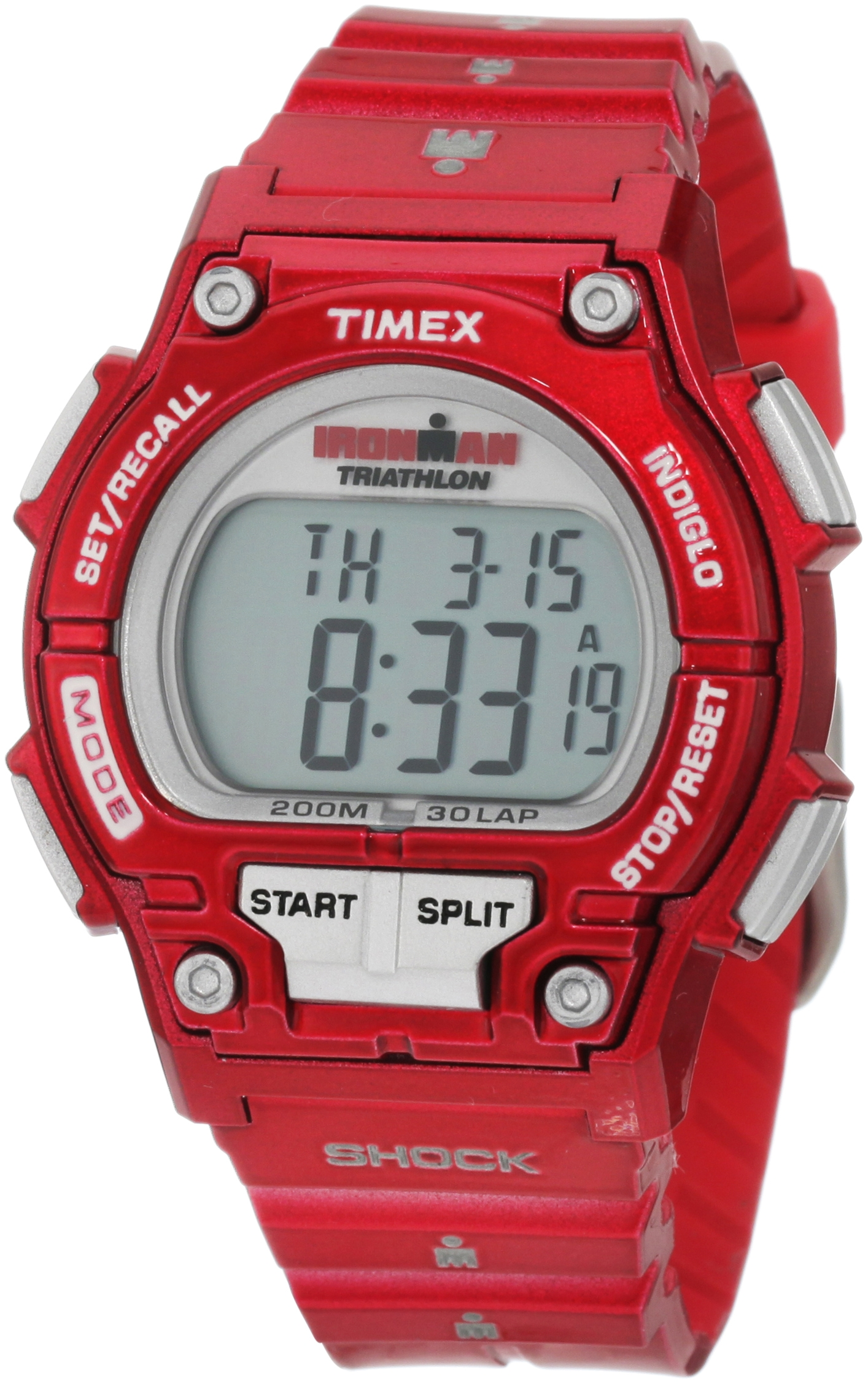Timex Women's T5K5579J Sport Ironman Cherry Full Size Shock 30 Lap Watch by Timex