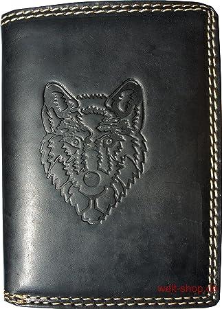 cd9b4ccb9dc59 Portemonnaie Büffel Wolf geprägt Schwarz  Amazon.de  Koffer ...