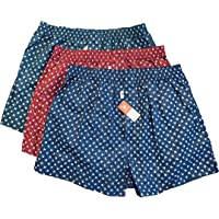 Arnaldo Bassini Men's Boxers (3 Pack) - Cotton 100% Healthy and Comfortable Boxer Shorts Underwear for Men - SimpleBare's Choice