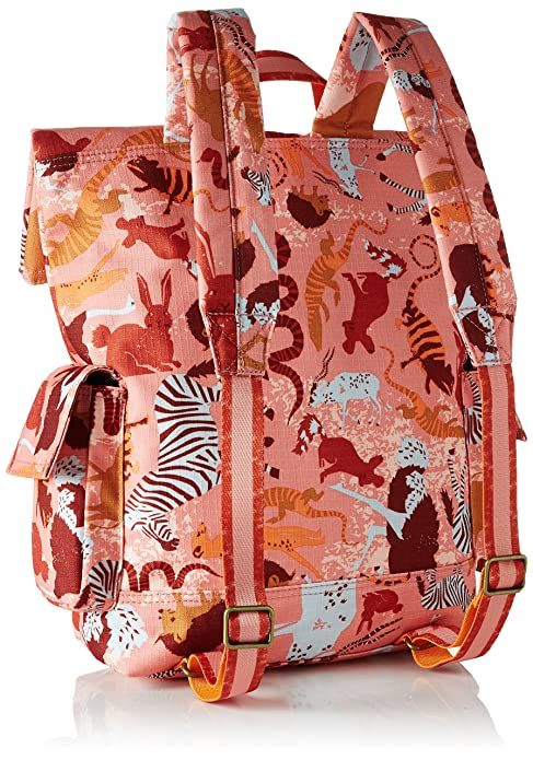 Mädchen Backpack Rucksack, Pink (Pink Flamingo), 11.5x37x27 cm Oilily