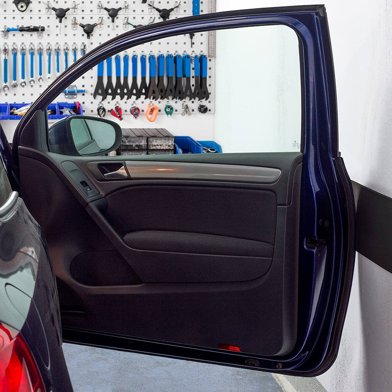 /épaisseur 0,6 cm Id/éal pour prot/éger vos porti/ères de voitures 200 x 20 cm Amazy Protection murale pour garage autoadh/ésive /à d/écouper