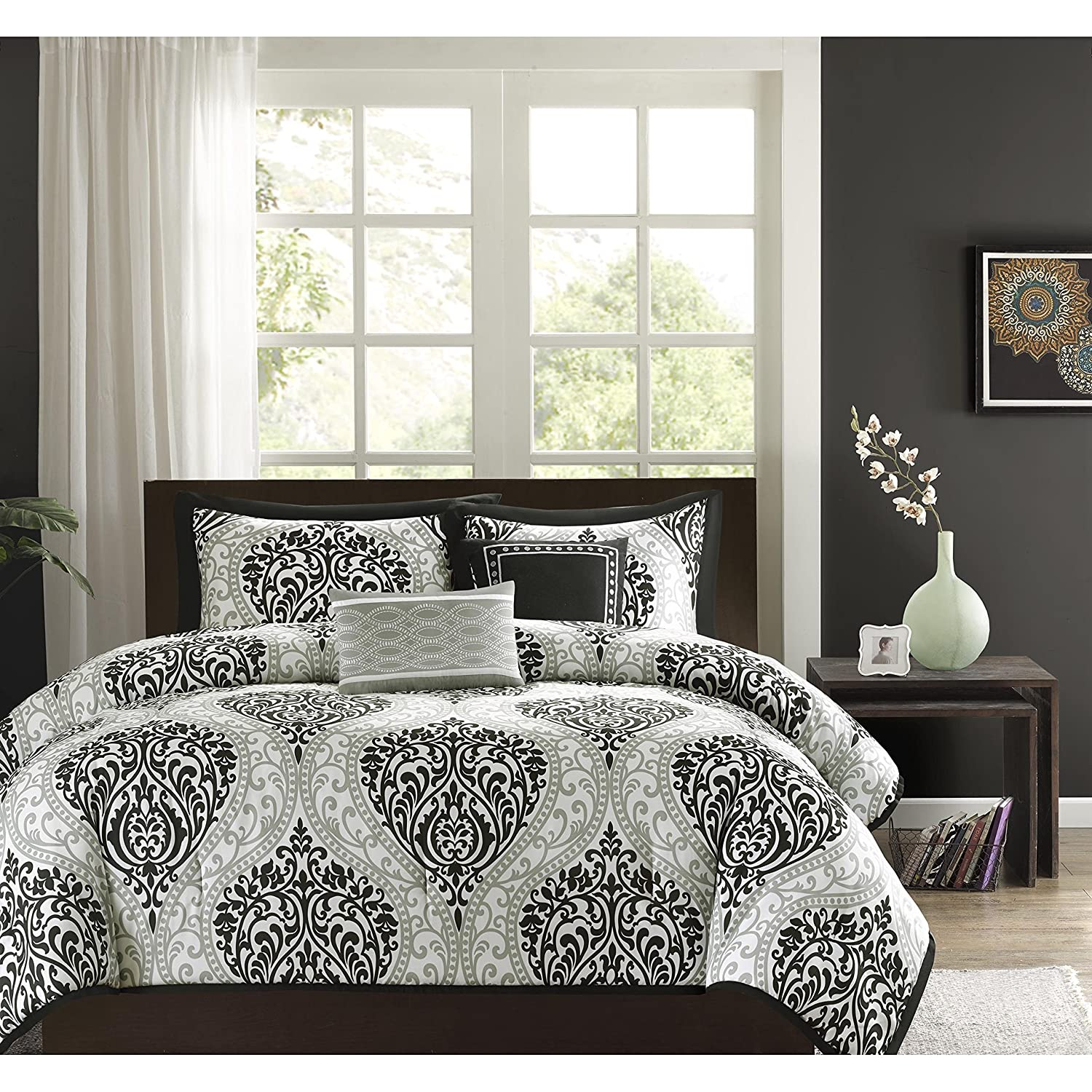tribal embroidery in x features xl list print set of public s on giftster black taupe bed comforter gift includes w shades twin and grey neutral bedroom beyond bath l