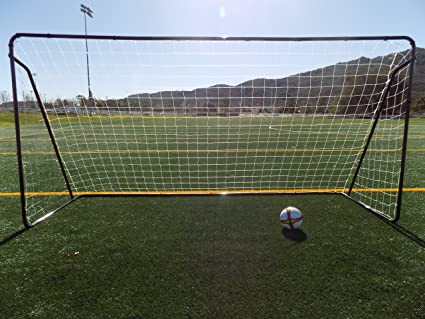566f5fb4f41 Vallerta 12 x 6 Ft. Powder Coated Galvanized Steel Soccer Goal w Net. 12x6  Foot AYSO Regulation Size Portable Training Aid.