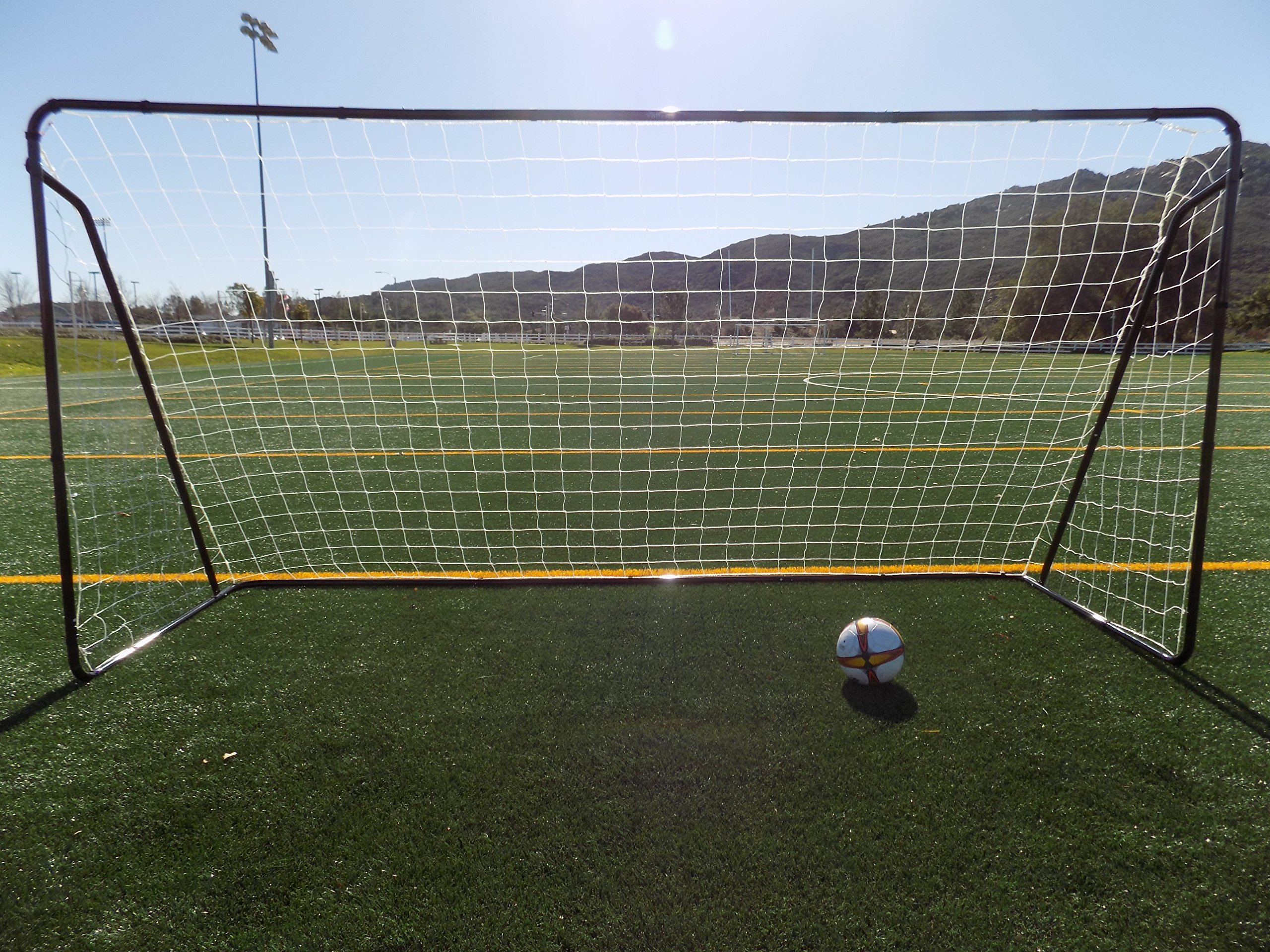Vallerta 12 x 6 Ft. Powder Coated Galvanized Steel Soccer ...