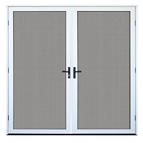 White Surface Mount Double Security Door With Meshtec