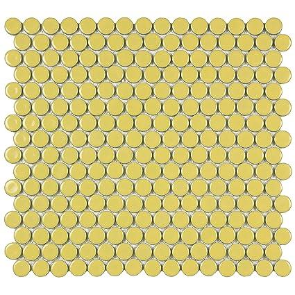 SomerTile FKOMPR06 Penny Porcelain Mosaic Floor and Wall Tile, 12\
