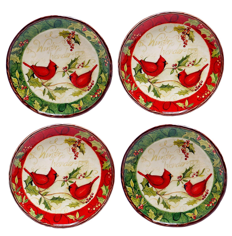 Christmas Cardinal Appetizer Plates