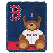 The Northwest Company MLB Boston Red Sox Field Bear Woven Jacquard Baby Throw