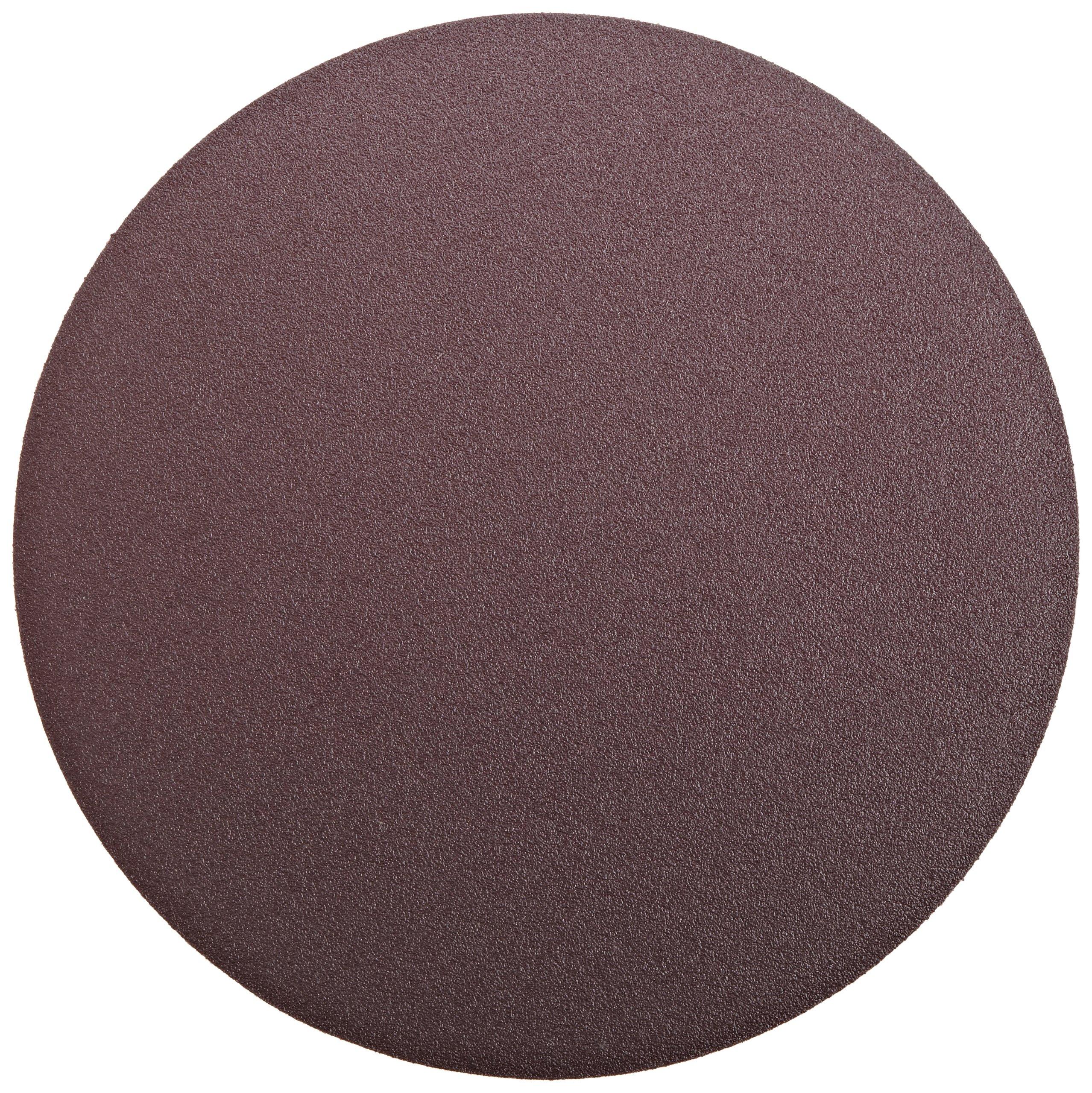 3M  PSA Cloth Disc 348D, X Weight Cloth, PSA Attachment, Aluminum Oxide, 12'' Diameter, 60 Grit, Brown (Pack of 10)