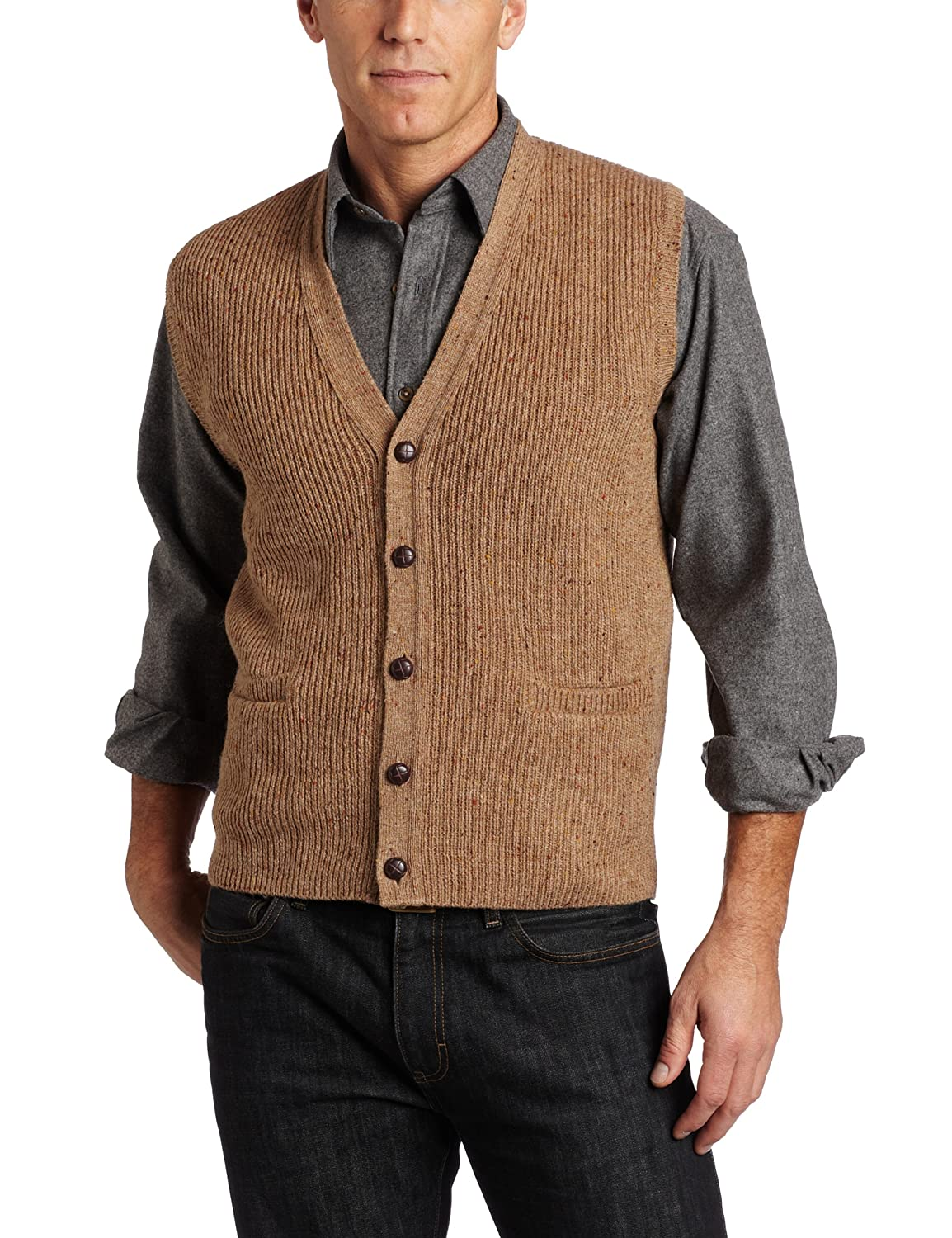 1950s Men's Clothing Pendleton Mens Shetland Vest $79.12 AT vintagedancer.com