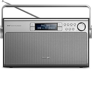 Philips AE5220B Tragbares Radio (digitaler UKW Tuner, DAB+,  Akku Netzbetrieb,
