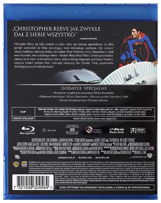 Amazon.com: Superman IV: The Strongest Enemy [Blu-Ray] (English audio): Christopher Reeve, Gene Hackman, Jackie Cooper, Marc McClure, Jon Cryer, ...