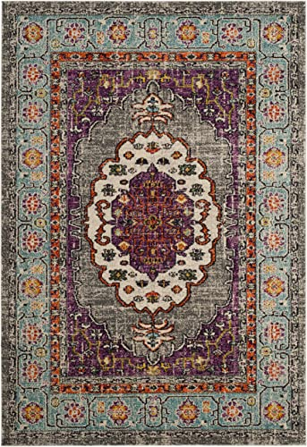 Safavieh Monaco Collection Vintage Area Rug, 8 x 10 , Violet Light Blue
