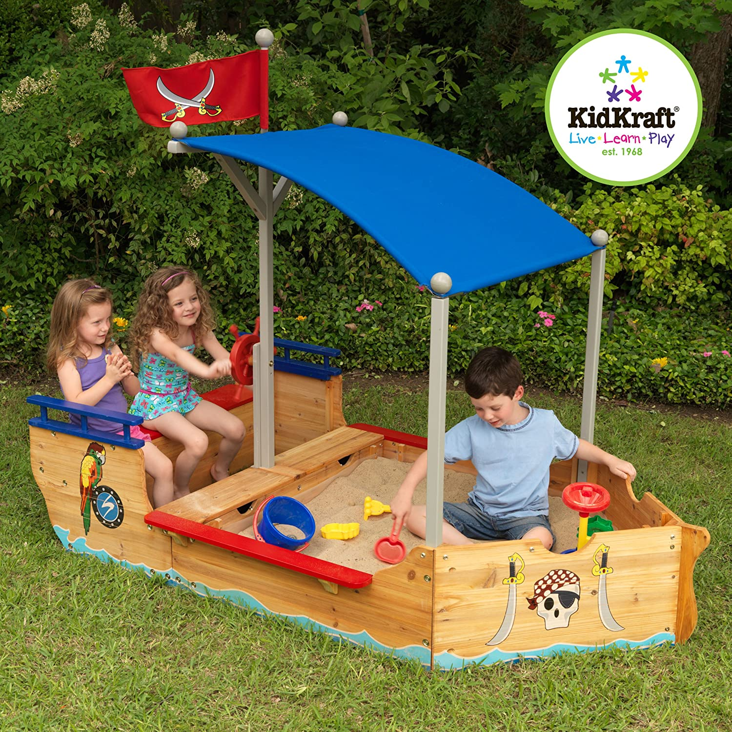 Amazon KidKraft Pirate Sandboat Toys & Games
