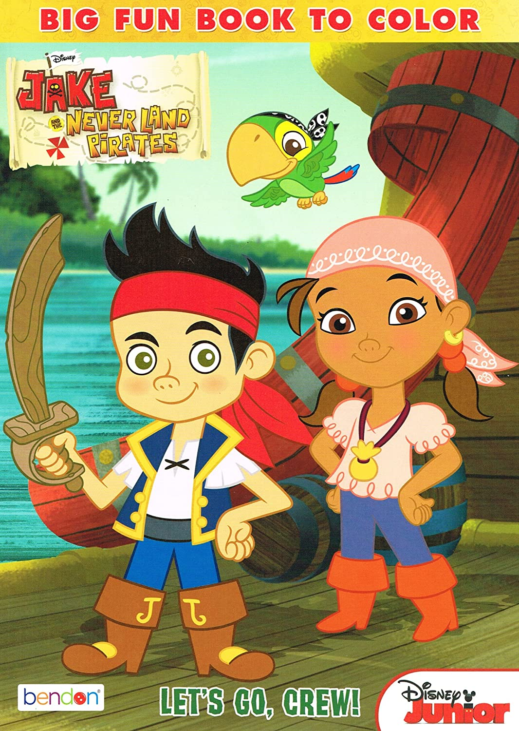 amazon com jake and the neverland pirates 96 page coloring book