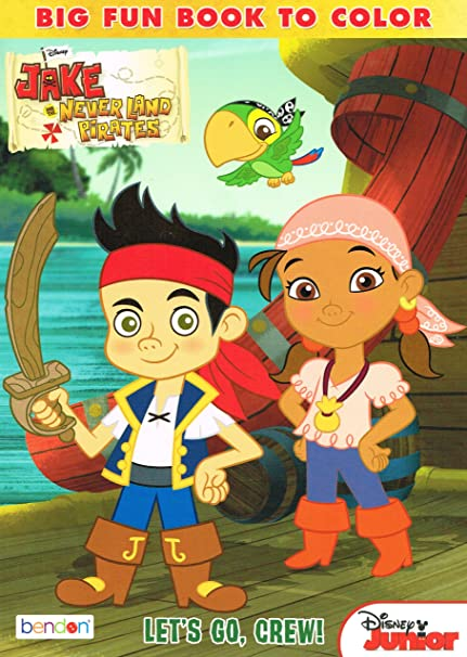 Amazon.com: Jake and the Neverland Pirates 96 Page Coloring Book (1 ...