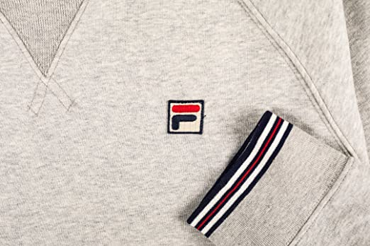 Fila Vintage Mens pozzi Sweatshirt, Grey, Medium at Amazon Mens Clothing store: