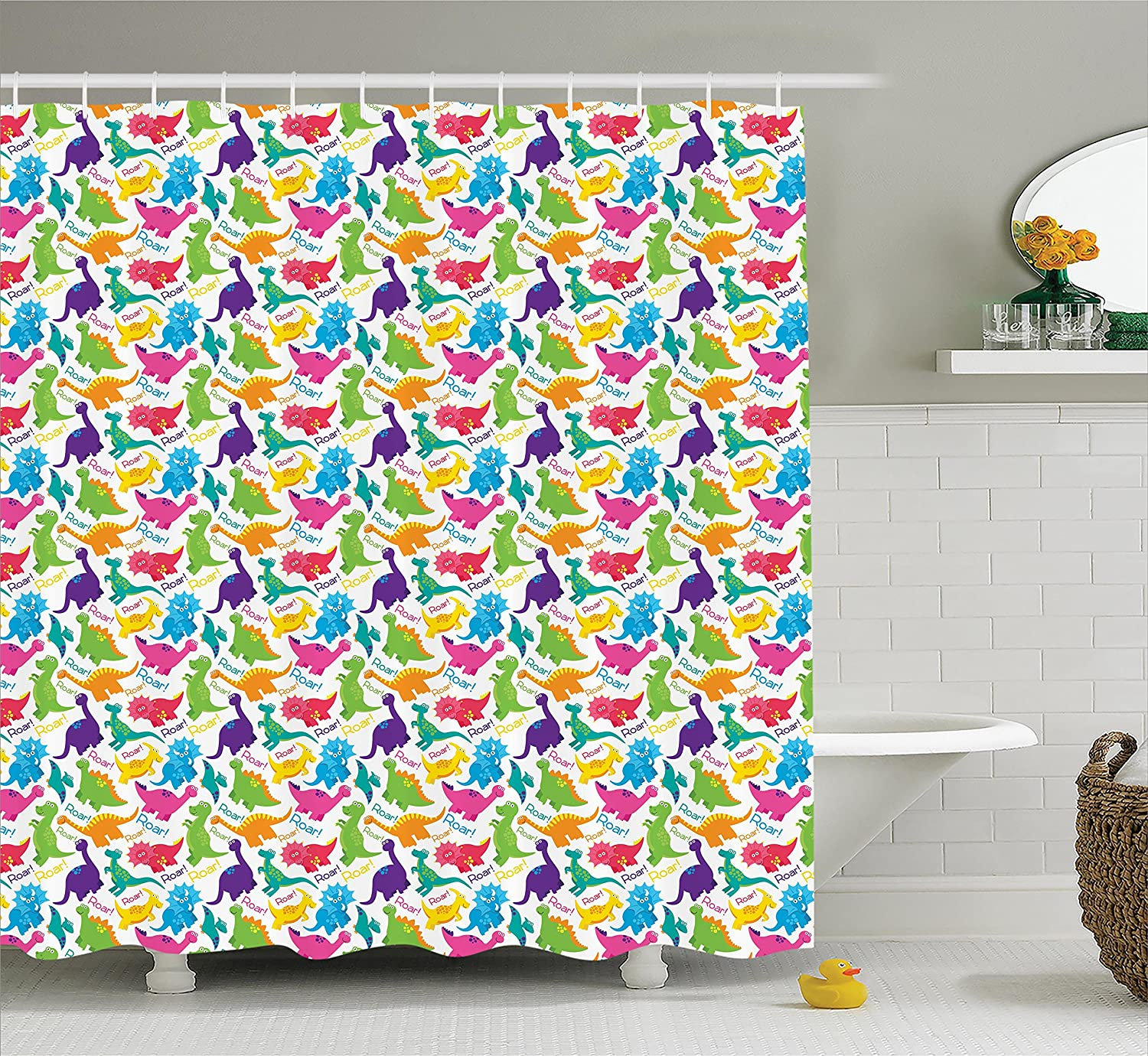 ... Shower Curtain Set By Ambesonne, Ancient Papyrus Presenting The Key Of  Life Traditional Empire Egyptian Print, Bathroom Accessories, 75 Inches Long,  ...