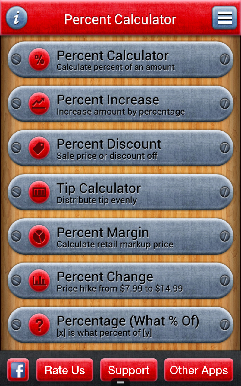 amazon com 7 in 1 percentage calculator appstore for android