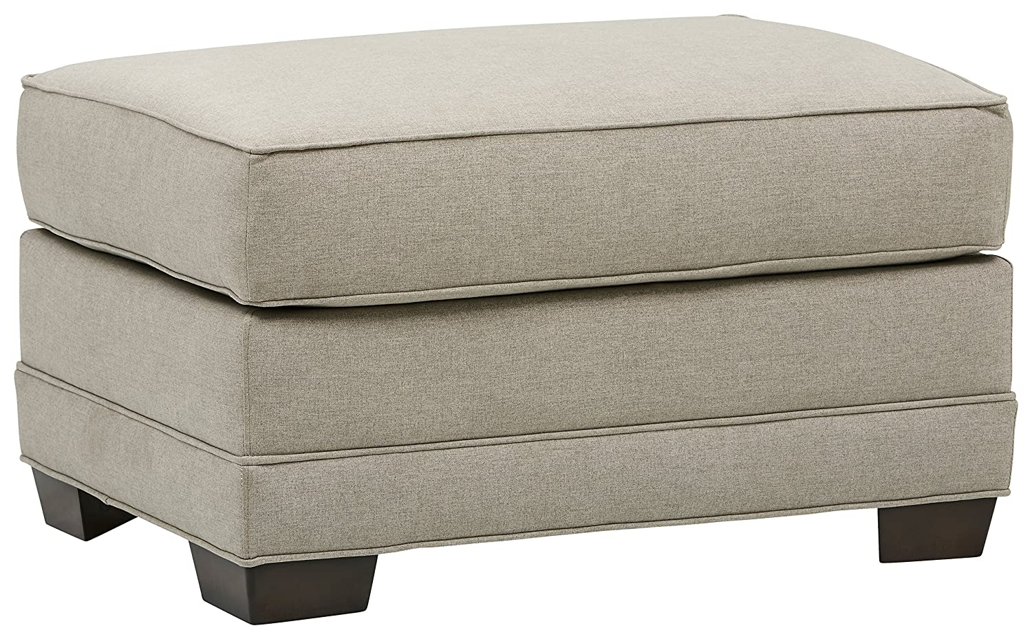 33W Stone /& Beam Dalton Performance Fabric Ottoman Sand