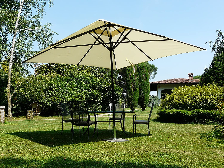 Maffei Art 139q Kronos Parasol cuadrado cm 300 x 300, Estructura ...