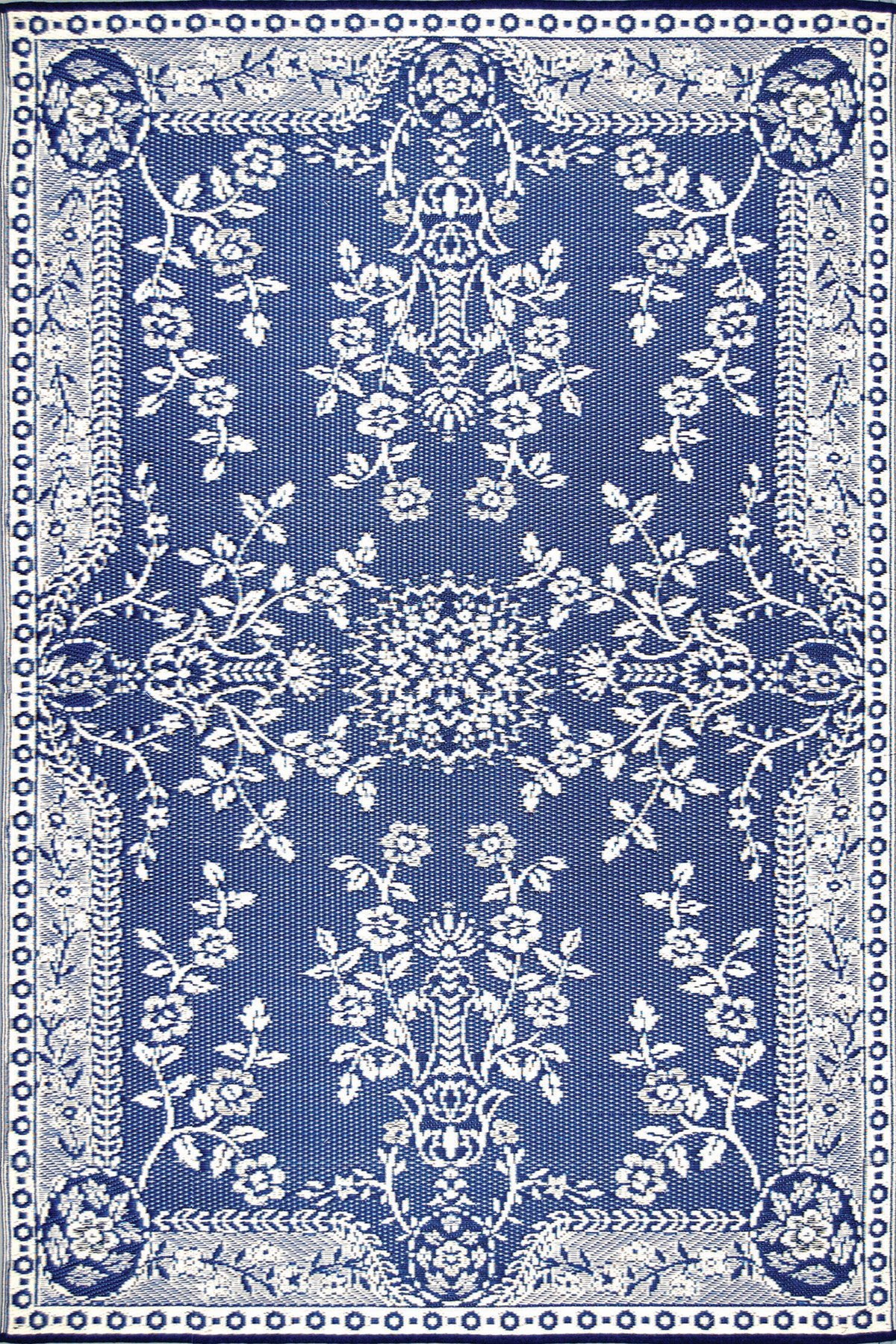 Mad Mats Garland Indoor/Outdoor Floor Mat, 6 by 9-Feet, Blue and White by Mad Mats®