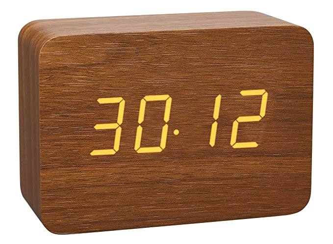 TFA Dostmann Diseño de radio despertador en aspecto de madera de ...