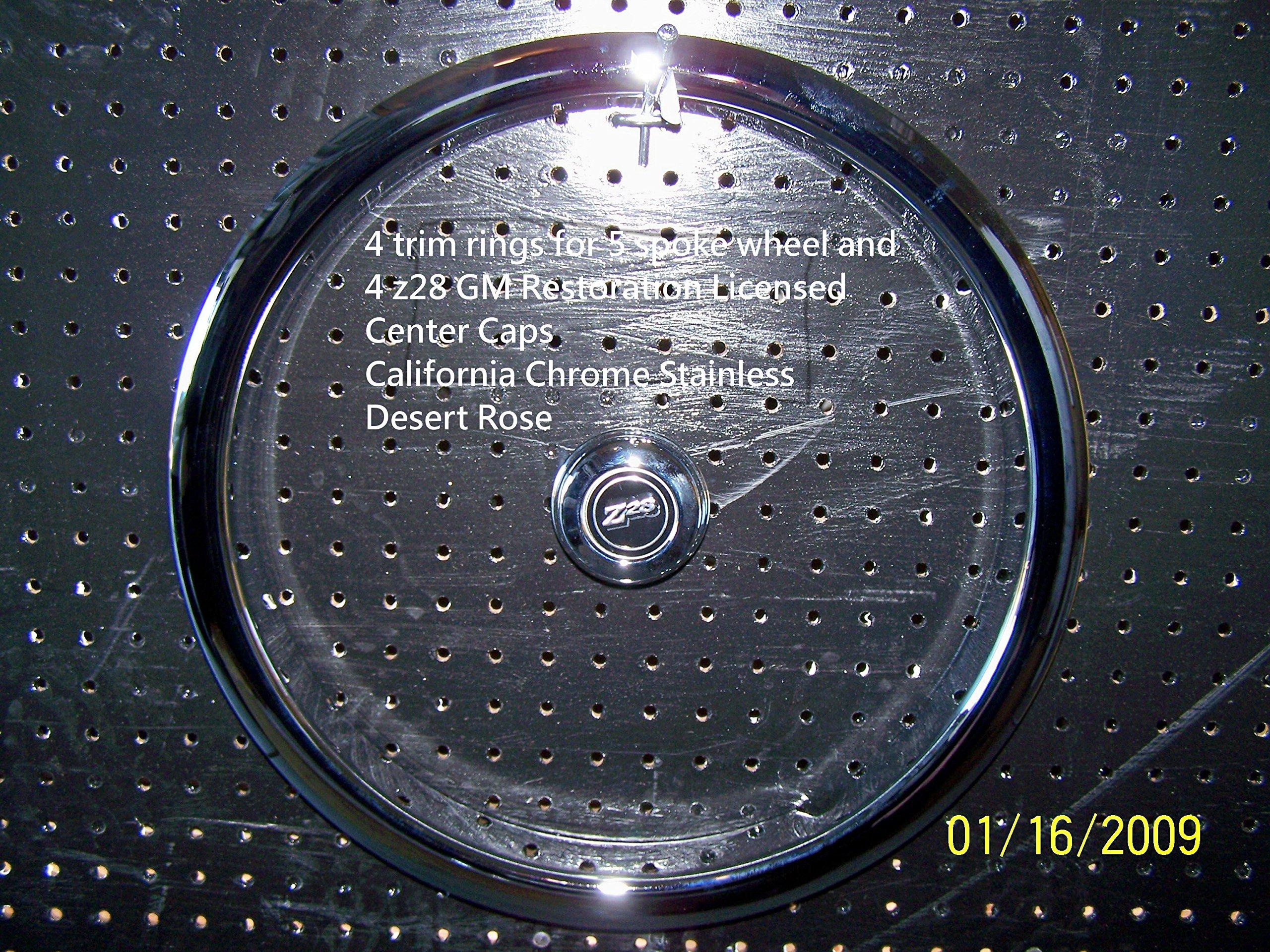 15'' 5 Spoke Rally Wheel Trim Rings Z-28, Chevelle Set of Four by Eagle Flight