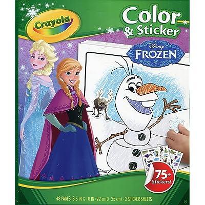 Crayola Frozen Color & Sticker Books: Toys & Games