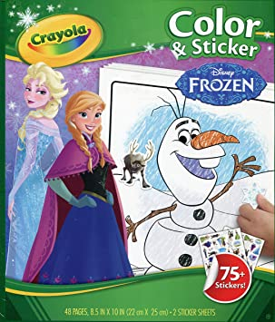 Crayola Disney Frozen Colour And Sticker Book