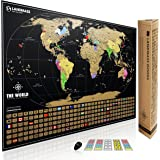 Extra Large Scratch Off Map of The World with Flags. - Travel Tracker Map - 24x36 - Made in The USA by Landmass