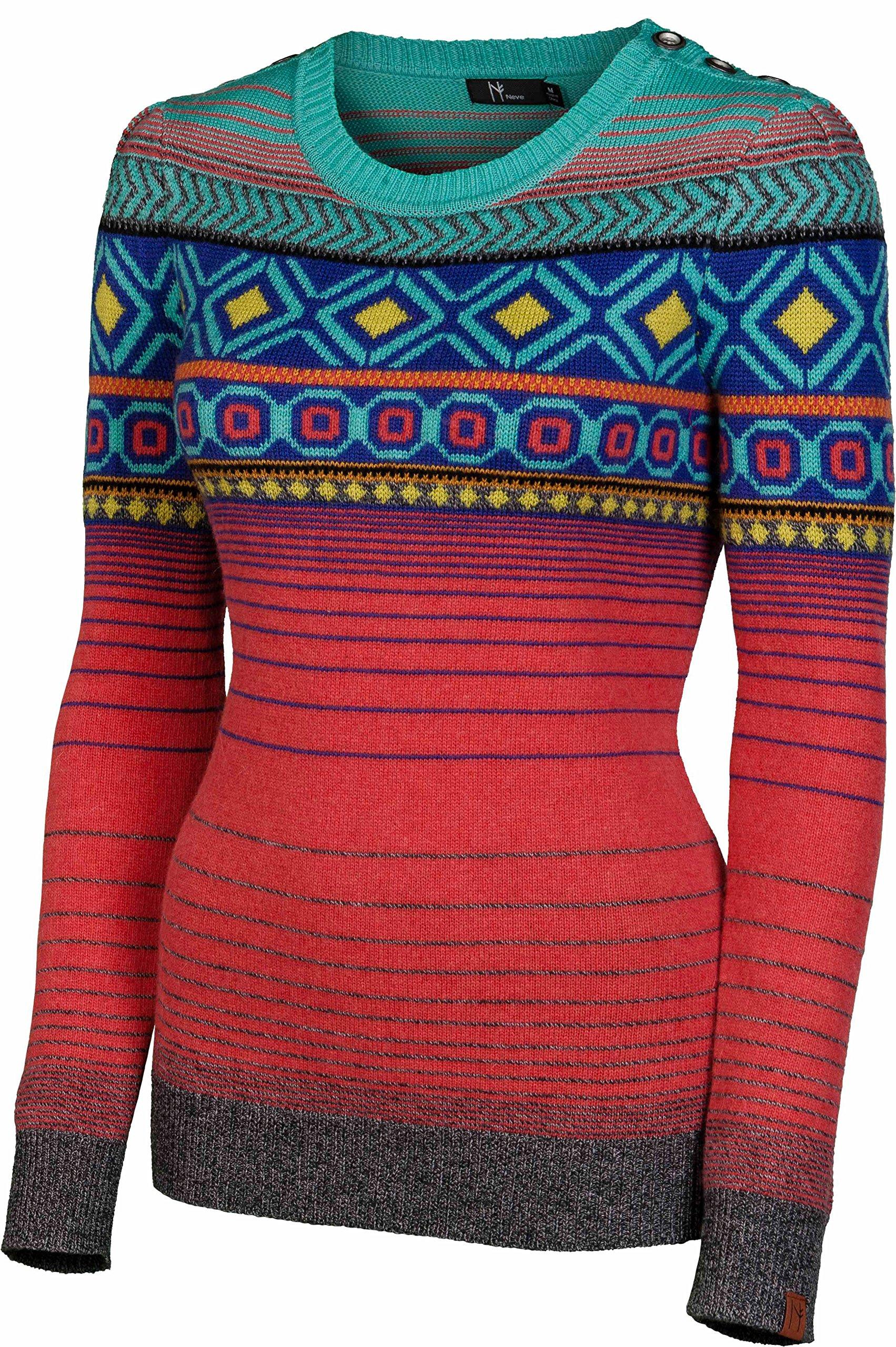 NEVE Women's Helena Crew Neck Sweater, Guava, Large