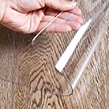 OstepDecor Upgraded Version 1.5mm Thick Clear Table Protector - 59 x 29 Inch, No Plastic Smell Clear Table Cover, Heavy Duty Table Top Cover Table Mat, Desk Cover Protector Clear