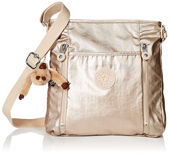 Amazon.com: Kipling Axl brillante oro Crossbody Bolsa ...