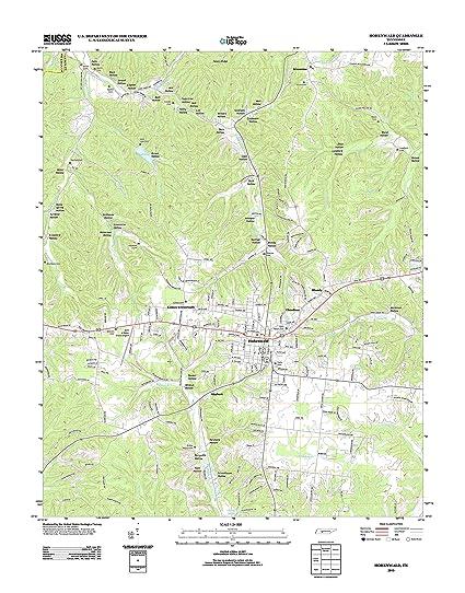 Hohenwald Tennessee Map.Amazon Com Topographic Map Poster Hohenwald Tn Tnm Geopdf 7 5x7