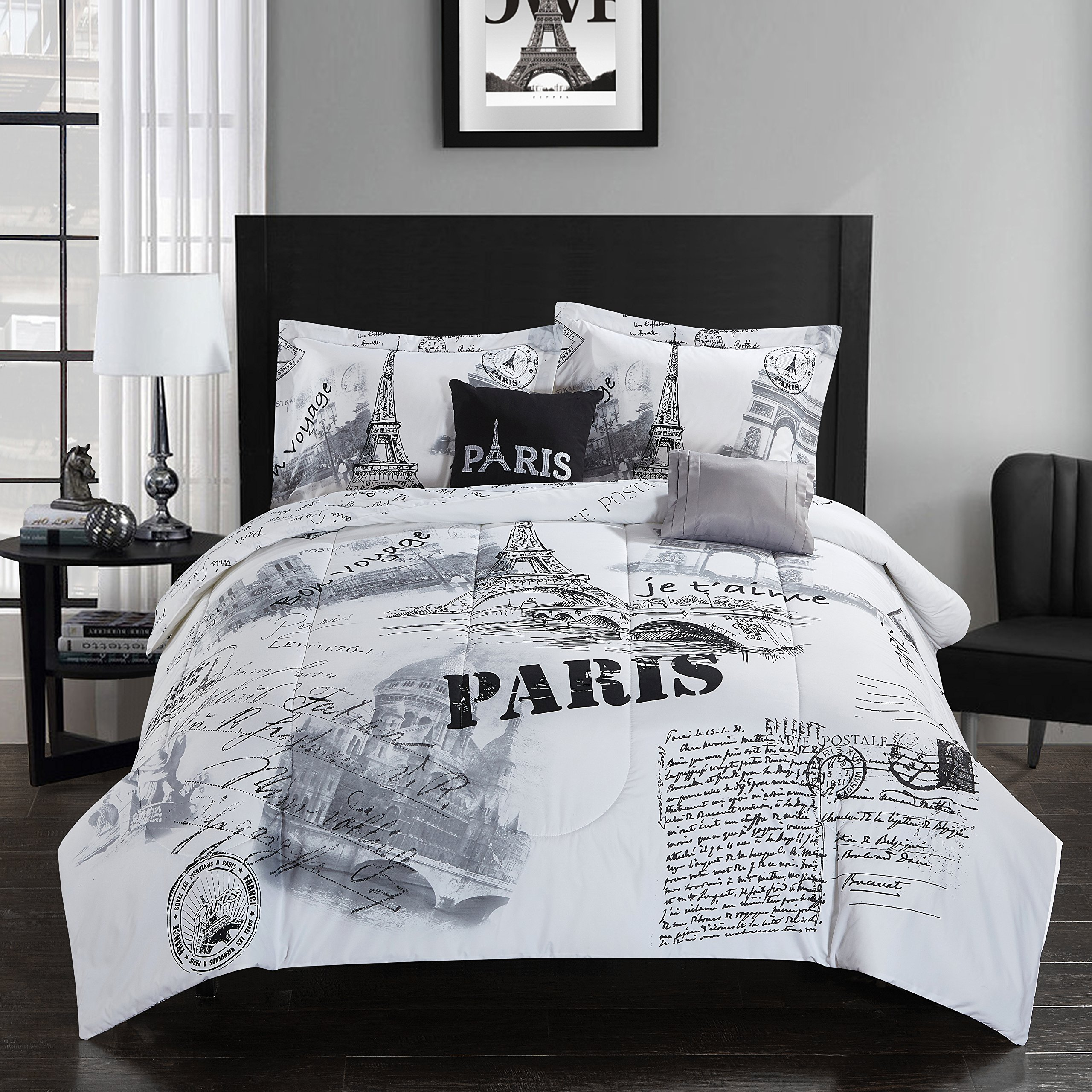 CASA Paris Comforter Set, Full/Queen, 5 Piece by CASA (Image #4)