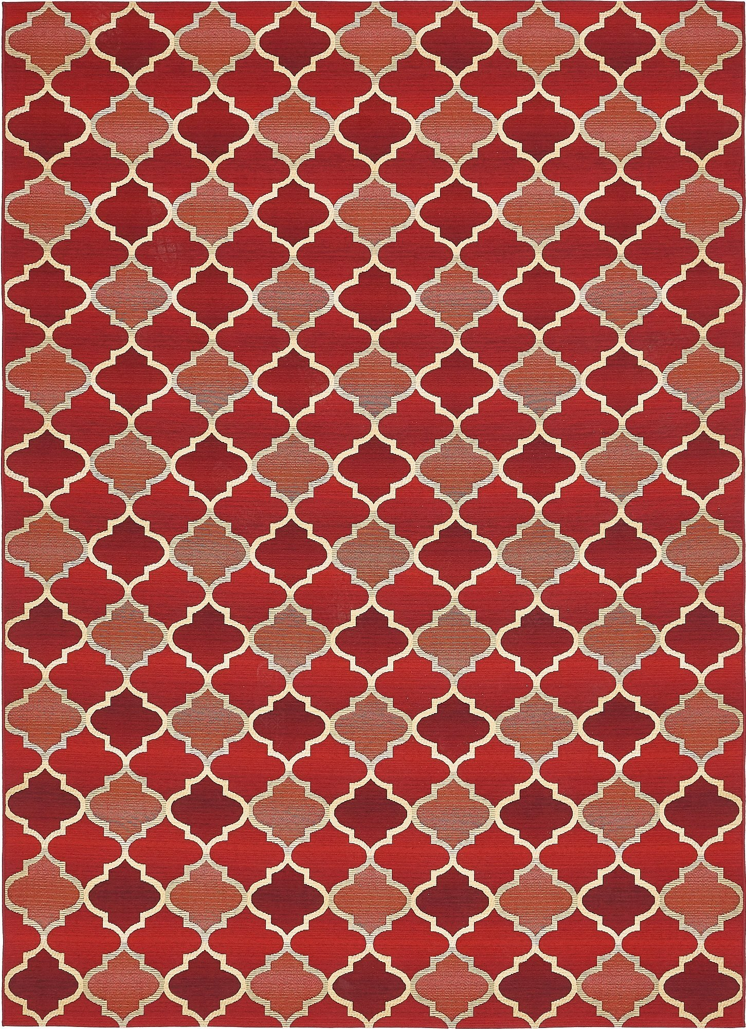 Unique Loom Eden Outdoor Collection Red 8 x 11 Area Rug (8' x 11' 4'') by Unique Loom