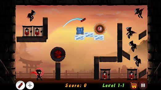 Amazon.com: Stickman Ninja Warrior - Throwing Puzzle Game ...