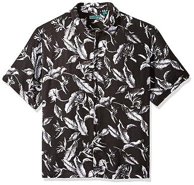 2dae6cbe95 Cubavera Men s Short Sleeve 100% Rayon Point-Collar Tropical Floral Print  Shirt