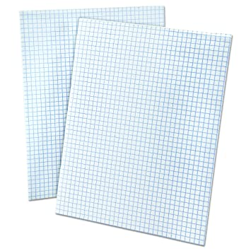 Amazon.Com : Ampad 8 1/2 X 11 Inches White Quad Pad, 4 Square Inch