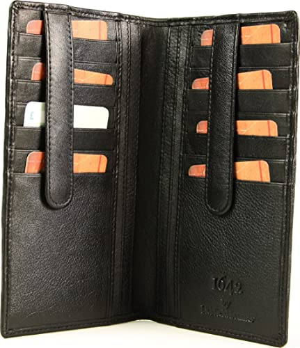 20b0d5f66aa5 Two Fold Tall Traditional 1642 Leather Wallet (Black)  Amazon.co.uk ...