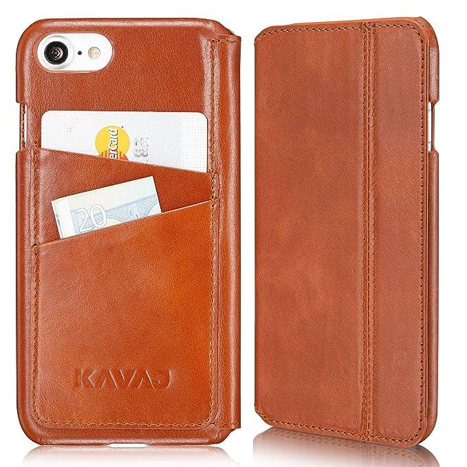 Amazon kavaj iphone 8 iphone 7 case leather dallas cognac brown kavaj iphone 8 iphone 7 case leather dallas cognac brown slim fit genuine leather colourmoves