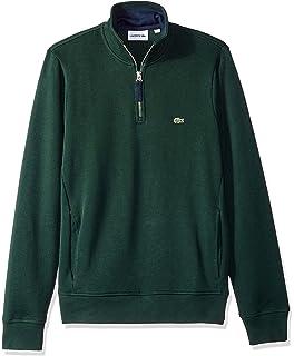 3456862bed30 Amazon.com  Lacoste Men s Sport Full Zip Brushed Fleece Sweatshirt ...